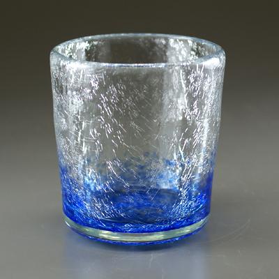 ロックグラス(角・ブルー)
