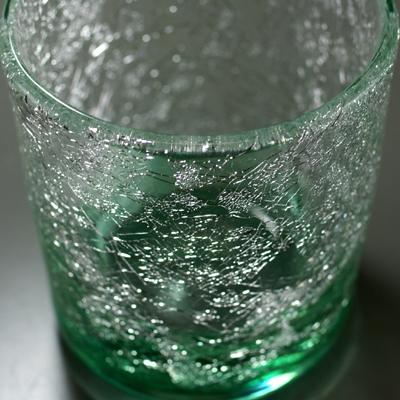 ロックグラス(角・エメラルドグリーン)