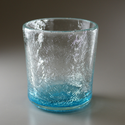 ロックグラス(角・ライトブルー)