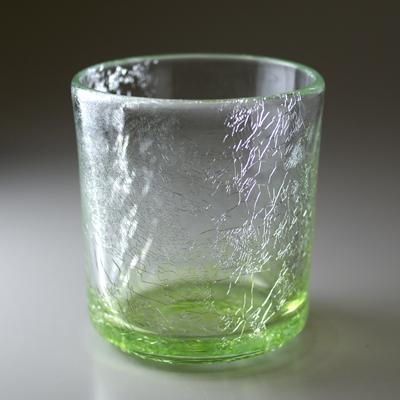 ロックグラス(角・オリーブグリーン)