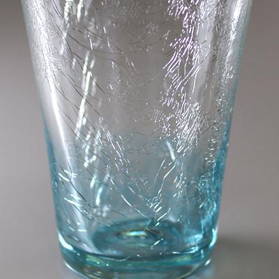 テーパーグラス(ライトブルー)