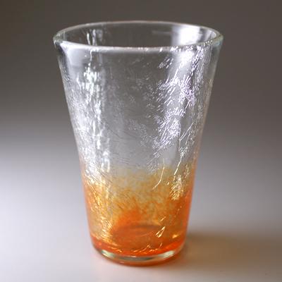 テーパーグラス(オレンジ)