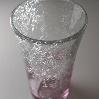 テーパーグラス(ピンク)