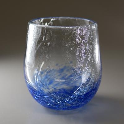 ロックグラス(丸・ブルー)