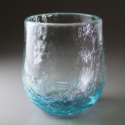 ロックグラス(丸・ライトブルー)