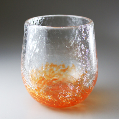 ロックグラス(丸・オレンジ)