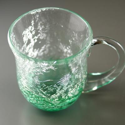 マグカップ(丸・エメラルドグリーン)
